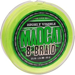 Леска плетеная MADCAT® 8-BRAID / 0.50mm / 115lb / 270m - Fluoro Green