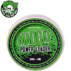 Снаг лидер плетеный MADCAT® POWER LEADER / 178lb / 15m - Dark Brown